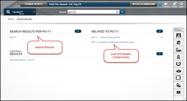 Screenshot of finding 1Search Plus Module