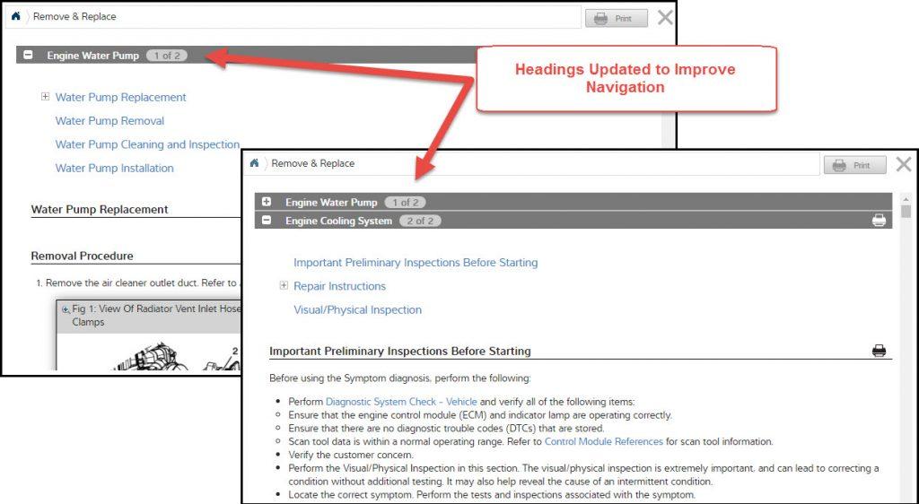ProDemand Navigation Updates
